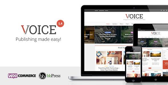 قالب مجله ای و وبلاگی صدا Voice v2.5